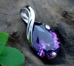 amethyst necklace silver images Graceful sterling silver amethyst tear water drop pendant necklace jpg