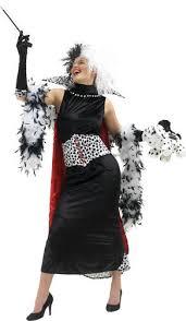 Cruella Vil Halloween Costume Cruella Vil Fancy Dress Ladies Halloween Disney Book Womens