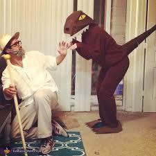 Jurassic Park Halloween Costume Dr Hammond Velociraptor Costume Couples
