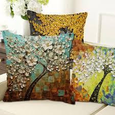 Cusion Cover Honana Wx 136 45x45cm 3d Vintage Flower Elephant Cotton Linen