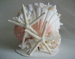 beach theme wedding cake topper seashell cake topper starfish