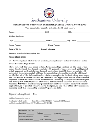 cover letter sample for university application scholarship