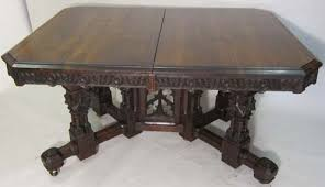 antique french gothic dining table with extensions