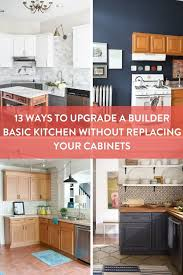 diy kitchen cabinets builders warehouse upgrade for builder grade cabinets 13 ideas for replacing