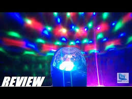 Party Lighting Review Glisteny Dj Mini Led Stage Ball Party Light Youtube