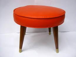 Orange Ottoman Fantastic Mid Century Ottoman Mid Century Orange Vinyl Ottoman
