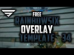 siege free free twitch overlay for rainbow six siege speedart 34 twitch