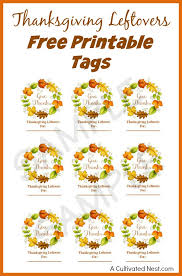 thanksgiving leftovers free printable tags thanksgiving
