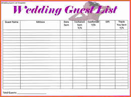 Sle Excel Spreadsheet Templates 4 Wedding Guest List Spreadsheet Expense Report