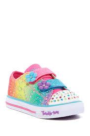 rainbow light up shoes skechers shuffles lil rainbow light up sneaker little