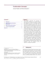 j dische k che fractionation concepts pdf available