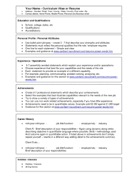 Job Resume Personal Qualities by Microsoft Word Resume Template Free Splixioo
