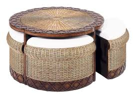 round rattan side table round rattan coffee table with stools coffee cocktail end