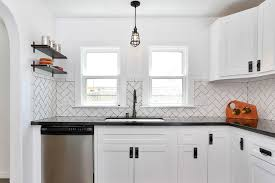 herringbone kitchen backsplash herringbone subway tile backsplash houzz