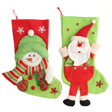 christmas stocking snowman cute decoration collection bag holder