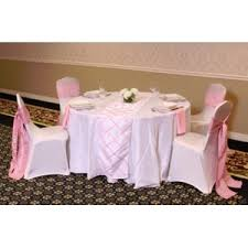 rent linens we rent linens light pink on white crisscross table runner