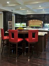 kitchen accessories red contemporary barstools in eat kitchen