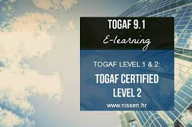 togaf certified level 2 nissen itsm u0026 its partner