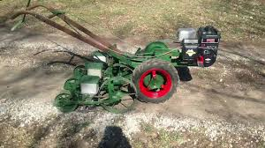 Walk Behind Seed Planter by Planet Jr Bp1 Walk Behind Tractor With 3 Row 300a Seeder