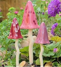 potting shed tinkling toadstool set of 3