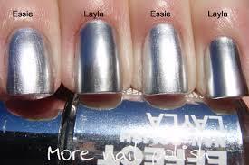 silver chomes comparison and base coat more nail polish