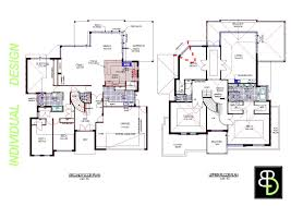 Blueprints House Home Design Modern 2 Story House Floor Plans Contemporary Double