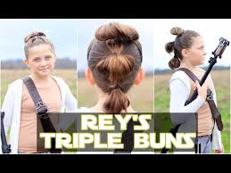 star wars hair styles get rey s star wars triple buns at home with these easy