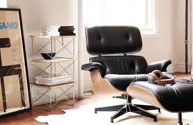 nonsensical eames lounge chair and ottoman living room