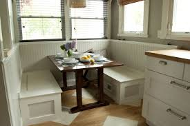 White Wood Dining Tables 23 Space Saving Corner Breakfast Nook Furniture Sets Booths For