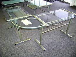 Glass L Shaped Desk Office Depot L Shaped Desk Glass L Shaped Glass Desk Konzertsommer Info
