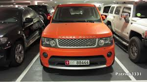 land rover matte matte orange range rover supercharged youtube