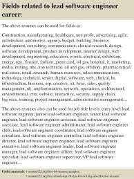 Resume Examples For Software Engineer by Top 8 Lead Software Engineer Resume Samples