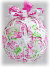 pink ornament handmade with lilly pulitzer fabric