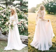 discount 2018 cheap two bohemian country wedding dresses