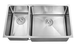 double bowl kitchen sink z203r 1 1 2 double bowl kitchen sink 16 gauge reverse combo