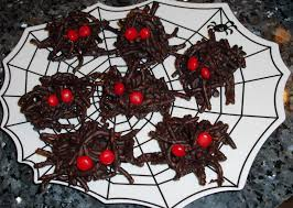 recipe for scary chocolate halloween spiders desserts