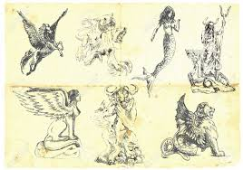 1 430 ancient mythological creatures stock illustrations cliparts