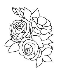 rose clip art coloring pages u2013 clipart free download