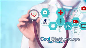 cool stethoscope a powerpoint template from presentermedia com