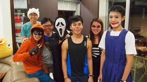 pb halloween party smu softball official softball team of singapore management