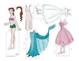 paper dolls mermaid print cut free mermaid party