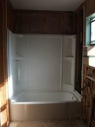 Bathtub And Wall One Piece Shower Surround U0026 Drywall Transition Drywall U0026 Plaster Diy