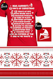 gifts by mail christmas postal worker shirt mail carrier s 12 days of