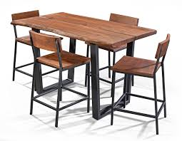 wood counter height table hoot judkins acacia live edge counter height dining table stool set