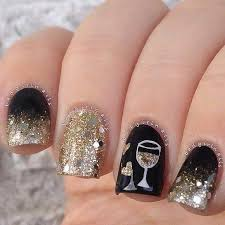 Nail Art Designs For New Years Eve 29 Best New Year Eve Images On Pinterest New Year Nail Art New