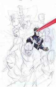 x men cyclop con sketches jam by peter v nguyen on deviantart