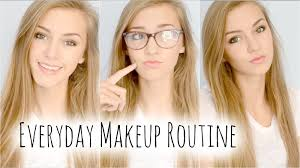 make up school everyday makeup routine for school