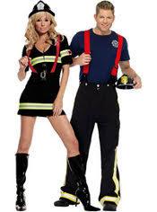 Cute Partner Halloween Costumes Ms Blazin U0027 Firefighter Fireman Couples Costumes Grim