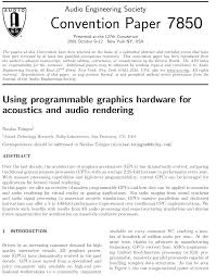 aes e library using programmable graphics hardware for acoustics