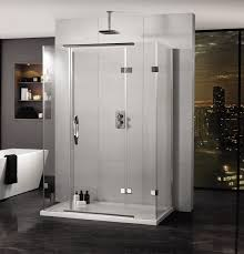 Shower Door Hinged by Aquadart Inline 900 X 800mm 3 Sided Hinged Door And Side Panels